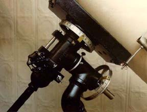 Homemade telescope mount pipe